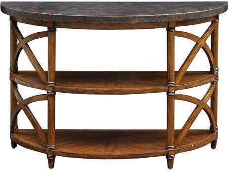 Uttermost Rada Weathered Pecan 48''L x 18''W Demilune Console Table