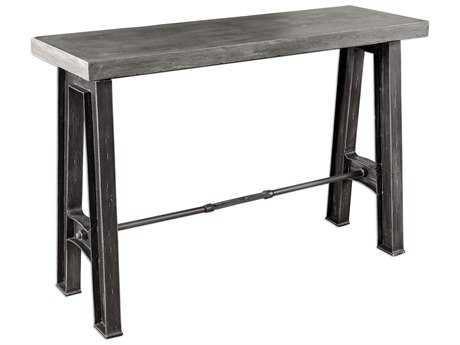 Uttermost Sade Antiqued Concrete 54'' x 15.75'' Rectangular Console Table