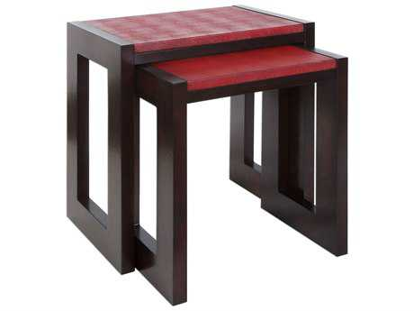Uttermost Onni Espresso & Cherry Red 24'' x 16'' Rectangular Nesting Table