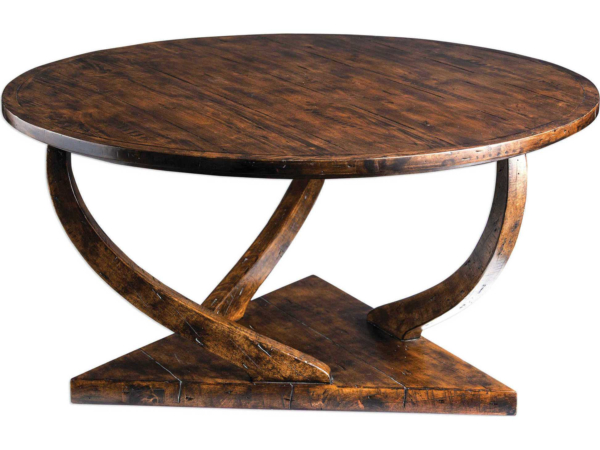 Uttermost Pandhari Honey 40 39 39 Round Coffee Table Ut25944