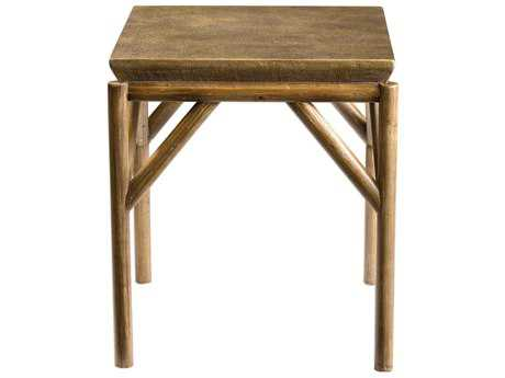 Uttermost Kanti Metallic Champagne & Weathered Oak 22'' Square End Table