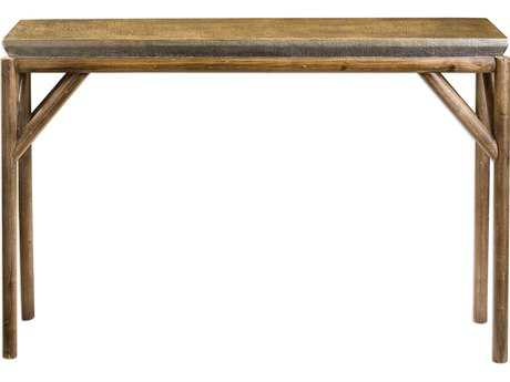 Uttermost Kanti Metallic Champagne & Weathered Oak 48''L x 12''W Console Table