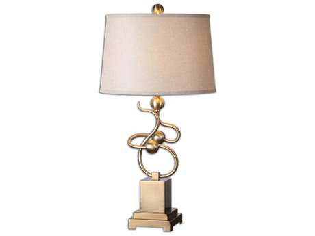 Uttermost Apollonia Modern Brass Table Lamp