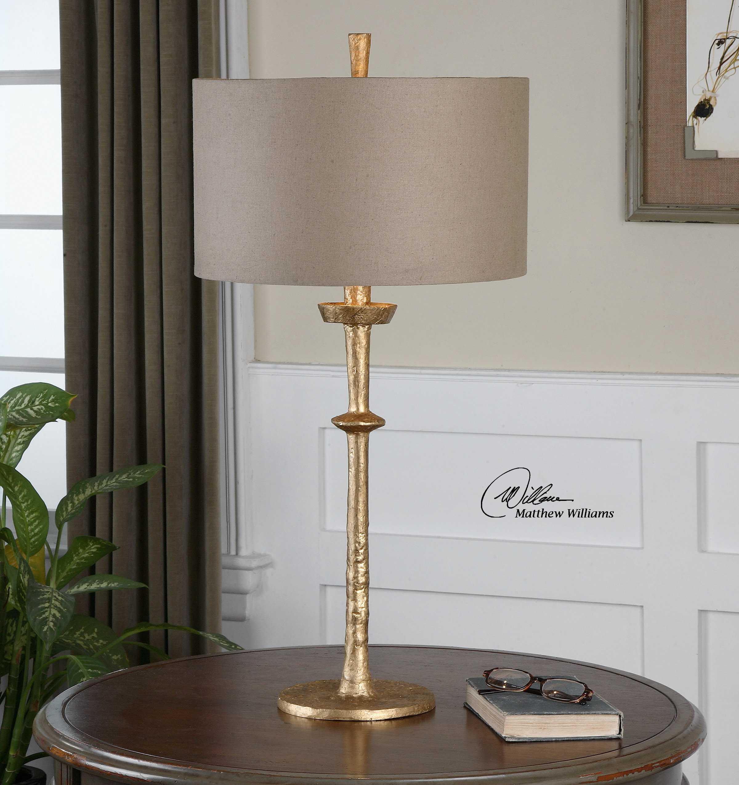 uttermost heraclius gold table lamp ut26188. Black Bedroom Furniture Sets. Home Design Ideas