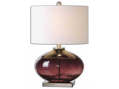 Uttermost Tyrian Purple Glass Table Lamp