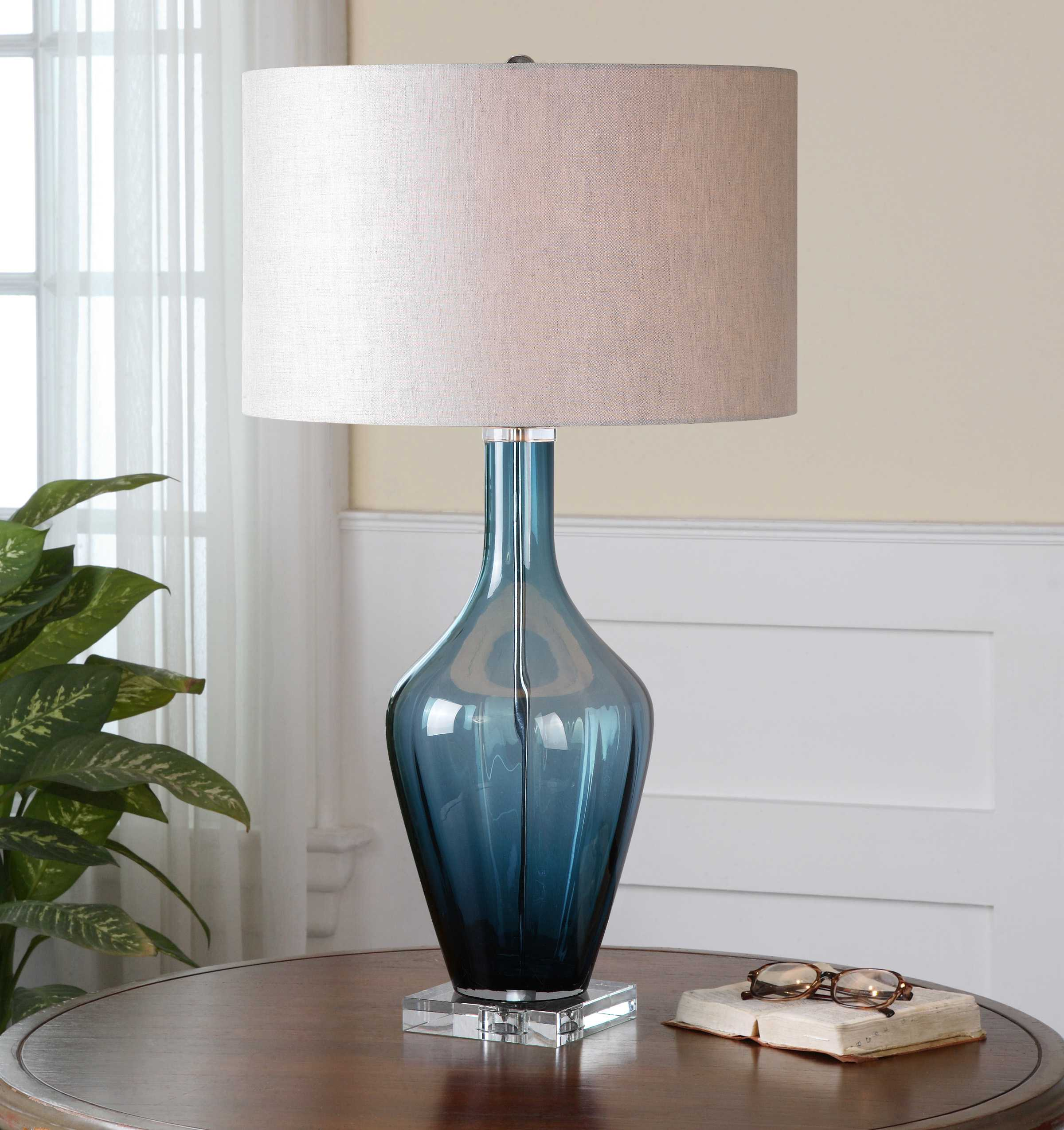 Uttermost Hagano Blue Glass Table Lamp Ut261911