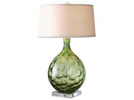 Uttermost Florian Green Glass Table Lamp
