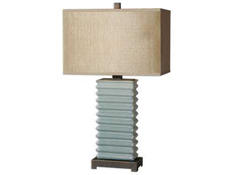 Uttermost Lupara Crackled Blue Table Lamp