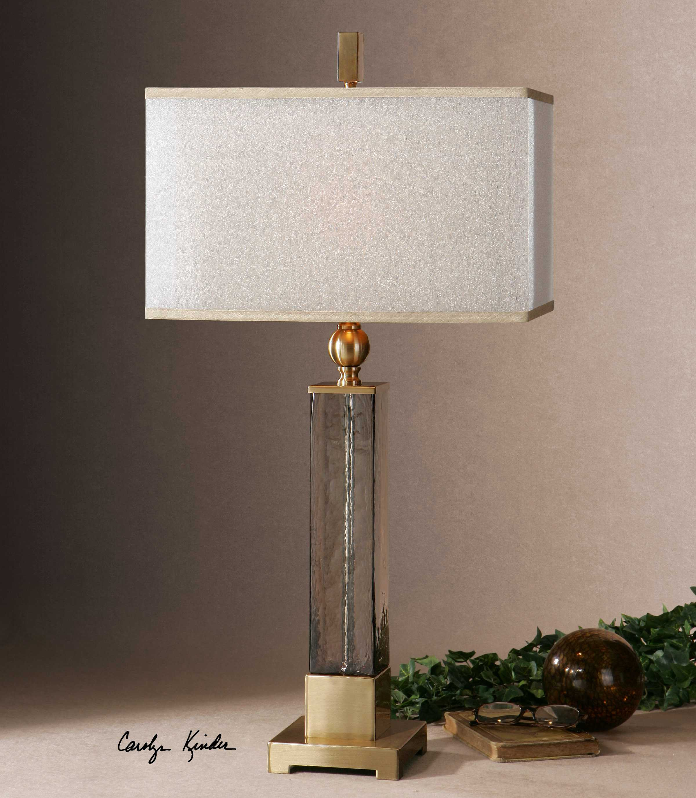 Uttermost Caecilia Amber Glass Table Lamp Ut265831