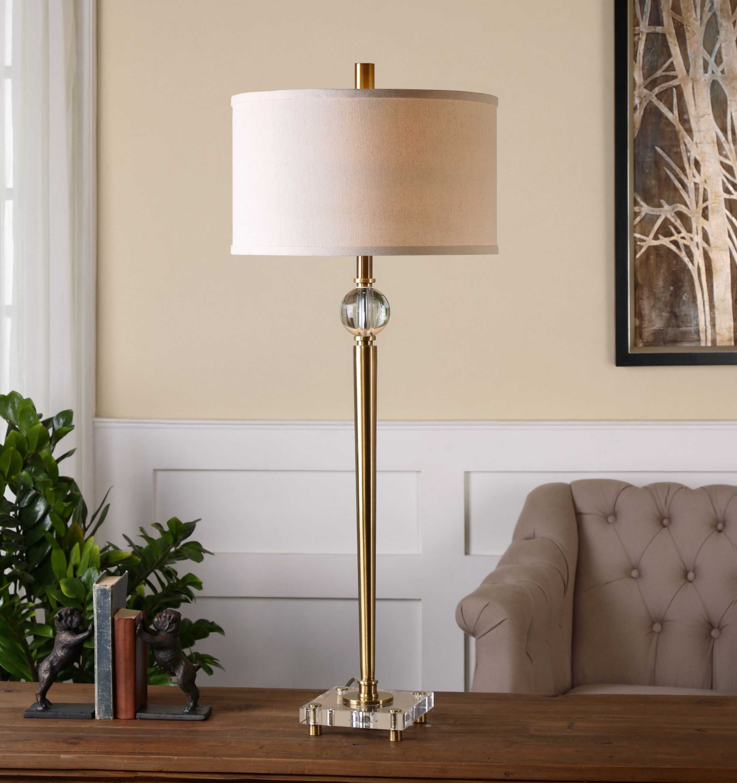 Uttermost Mesita Brushed Brass Buffet Lamp Ut269591