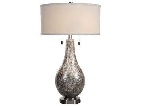 Uttermost Saracena Mercury Glass Two-Light Table Lamp