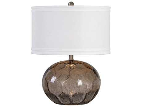 Uttermost Jasperse Smokey Amber& Brushed Nickel Table Lamp