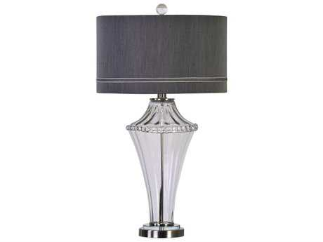 Uttermost Jim Parsons Gironde Fluted Brushed Nickel Buffet Lamp