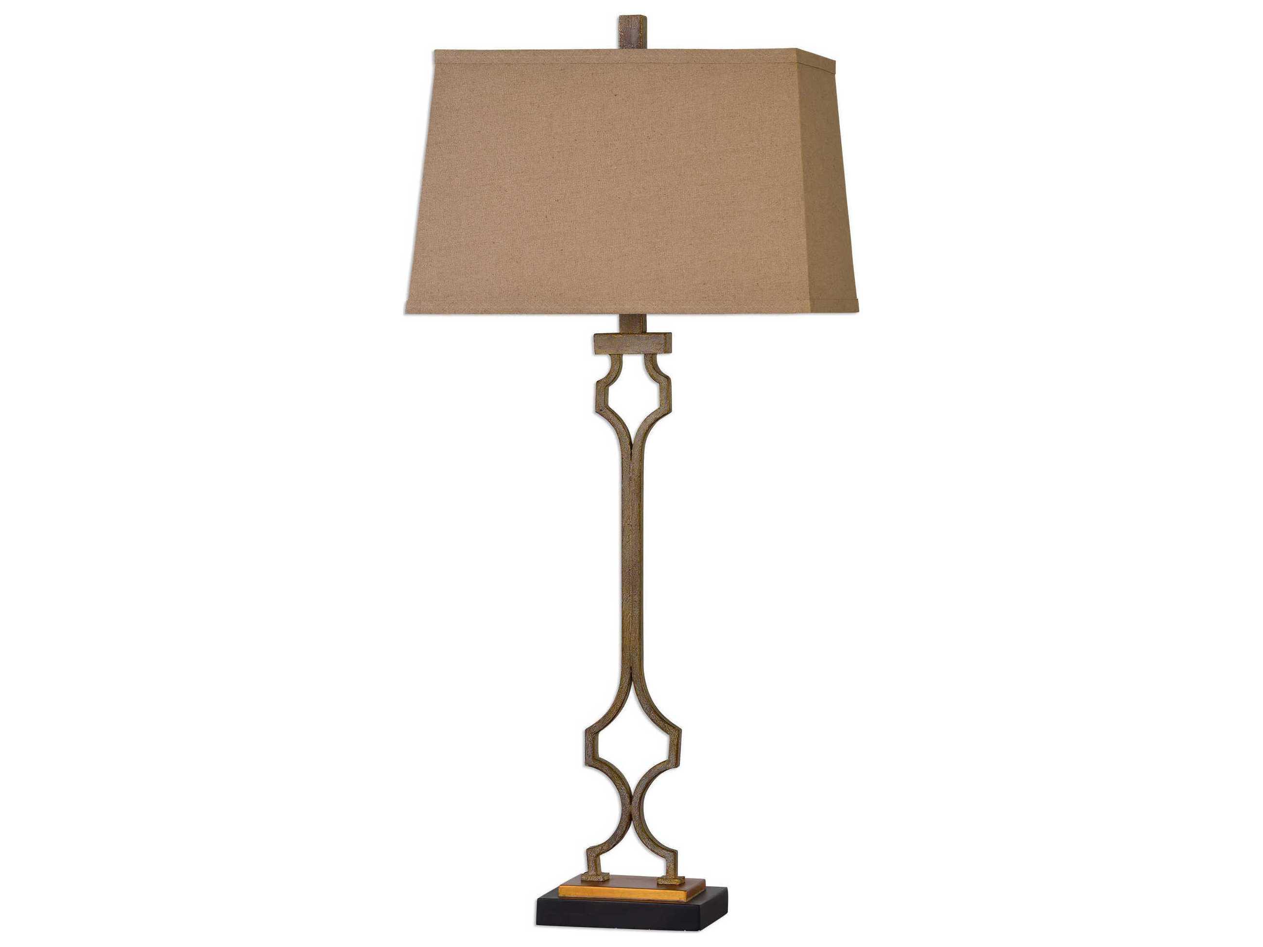 uttermost vincent gold leaf table lamp ut27140. Black Bedroom Furniture Sets. Home Design Ideas
