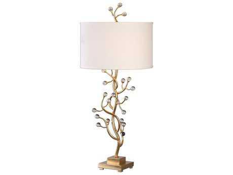 Uttermost Bede Gold Leaf Buffet Lamp