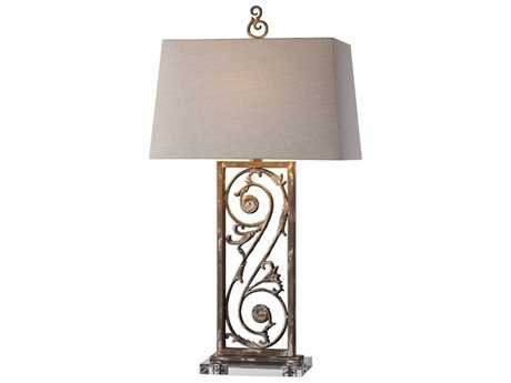 Uttermost Jim Parsons Catania Aged White Buffet Lamp