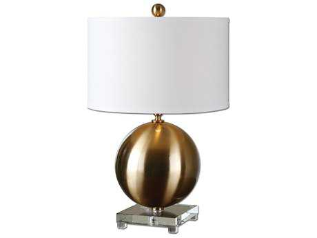 Uttermost Laton Brass Sphere Table Lamp