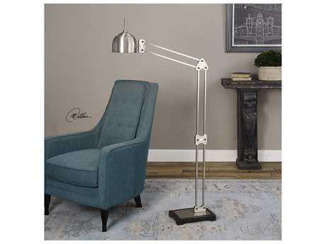 Uttermost Amado Brushed Nickel Floor Lamp