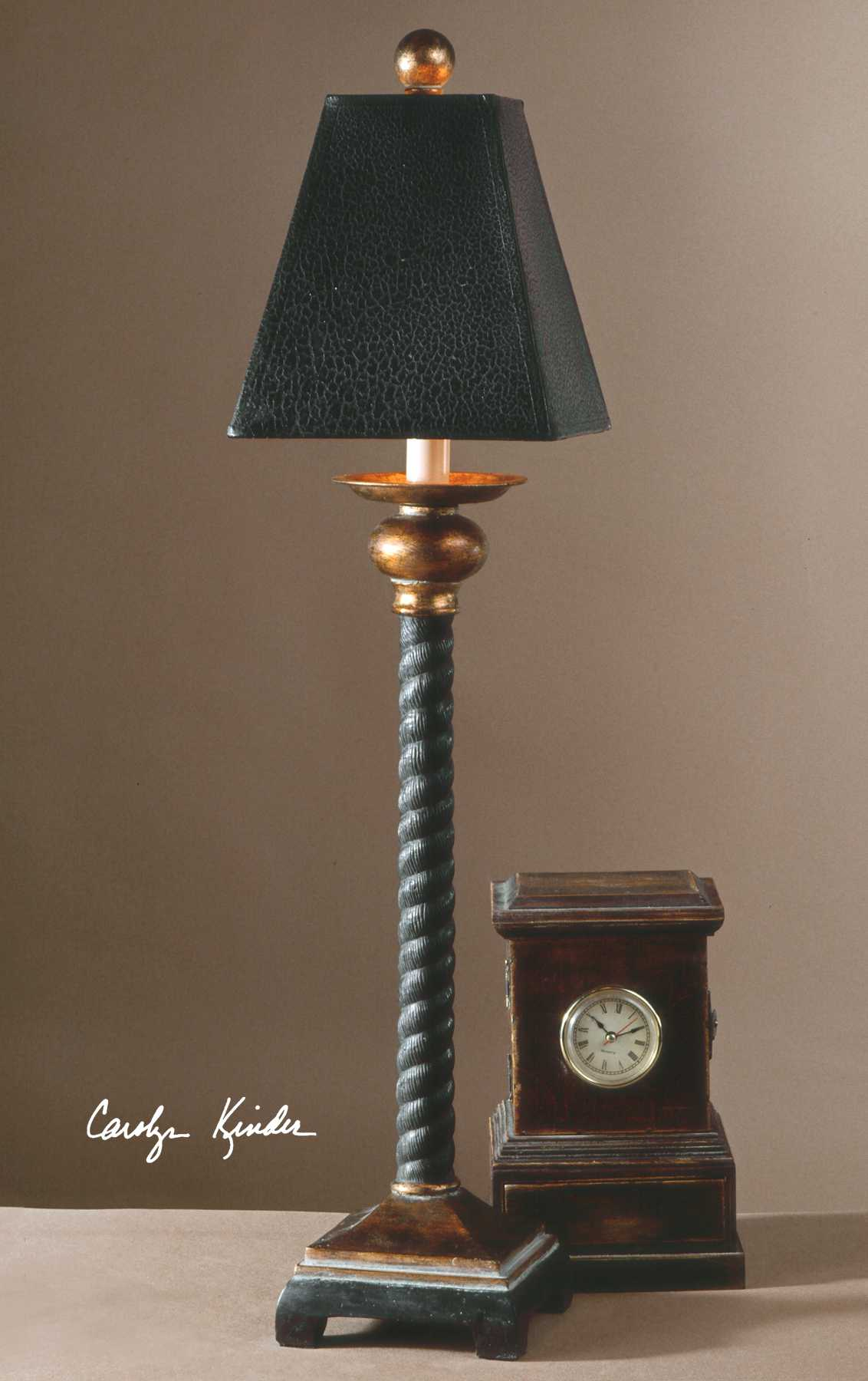 Uttermost Bellcord Black Buffet Lamp Ut29007