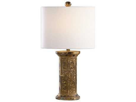 Uttermost Matthew Williams Latina Antiqued Gold Table Lamp