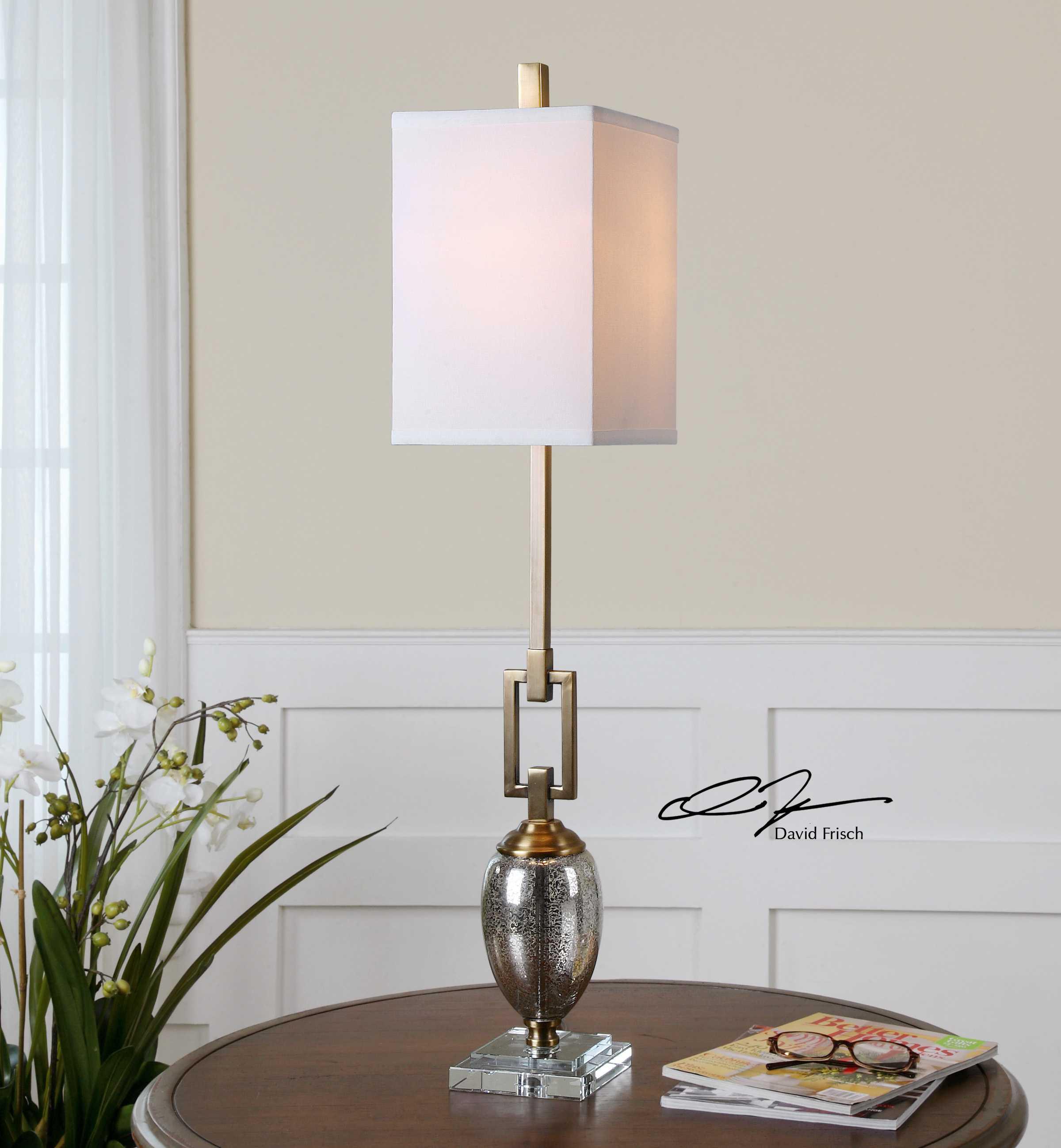Uttermost Copeland Mercury Glass Buffet Lamp Ut293381