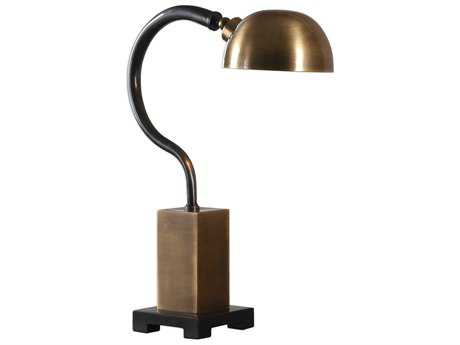 Uttermost Gennaro Antique Brass & Charcoal Black Table Lamp