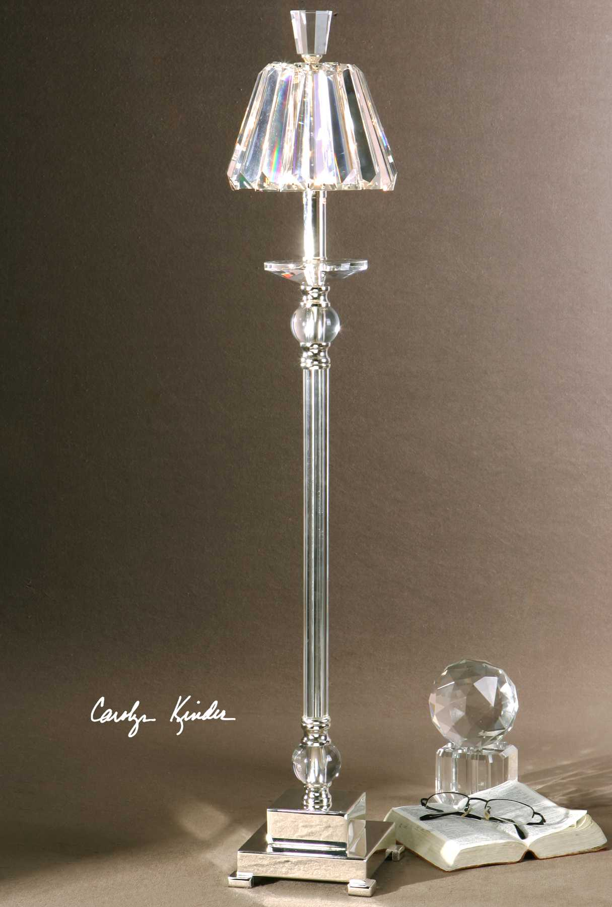 Uttermost Kalena Silver Crystal Buffet Lamp Ut298451