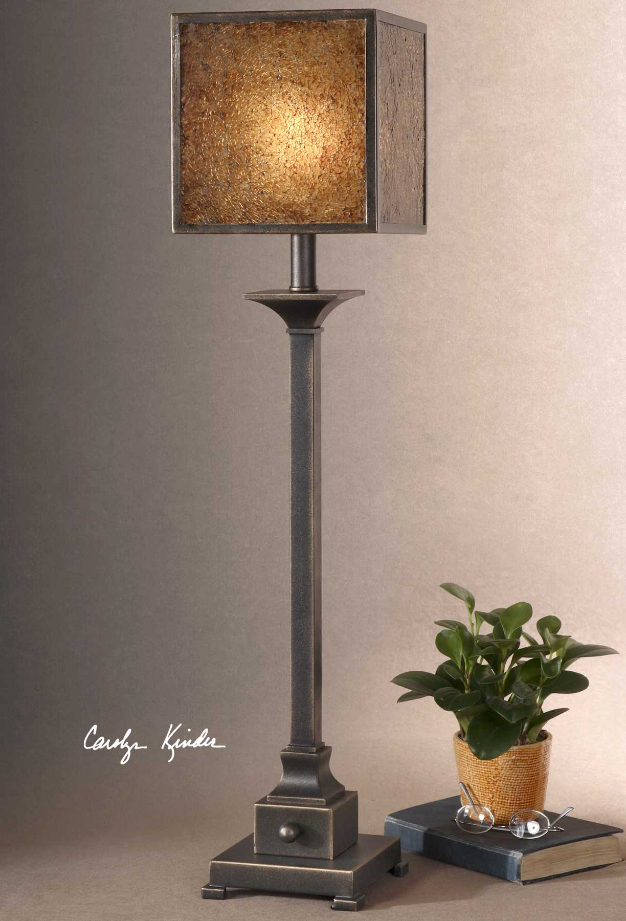 Uttermost Meora Rustic Bronze Buffet Lamp Ut298831