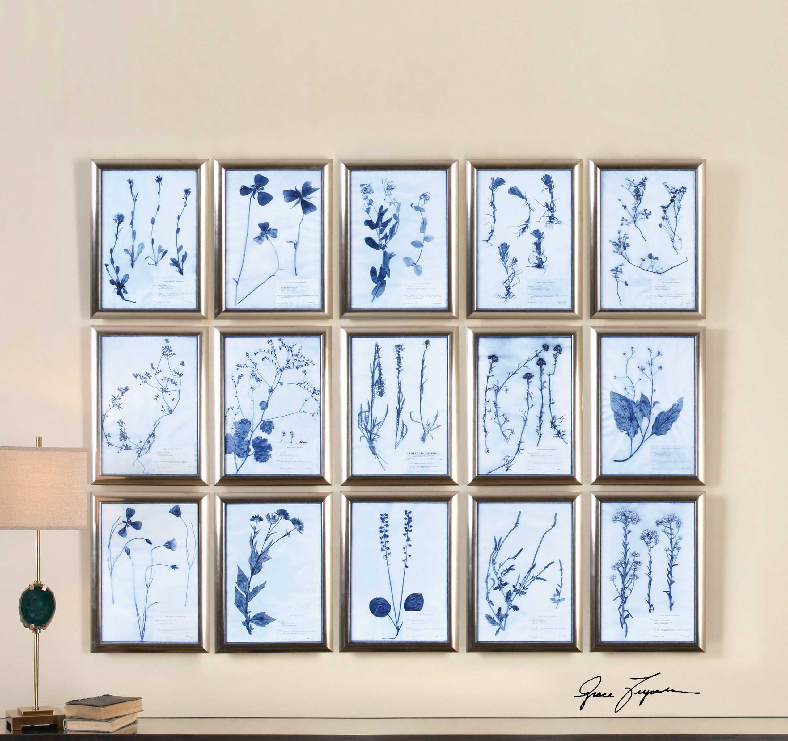Uttermost Dried Flowers Floral Wall Art (15 Piece Set) | UT33609