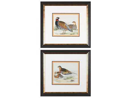 Uttermost Pair Of Quail Framed Prints (Set of 2)