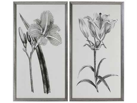 Uttermost Grace Feyock Sepia Flowers Sepia Tone Prints (Set of Two)