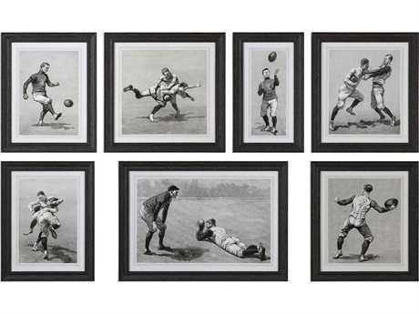 Uttermost Grace Feyock Vintage Football Techniques Print Art (Set of Seven)
