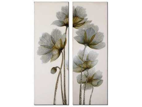 Uttermost Floral Glow Floral Wall Art (2 Piece Set)
