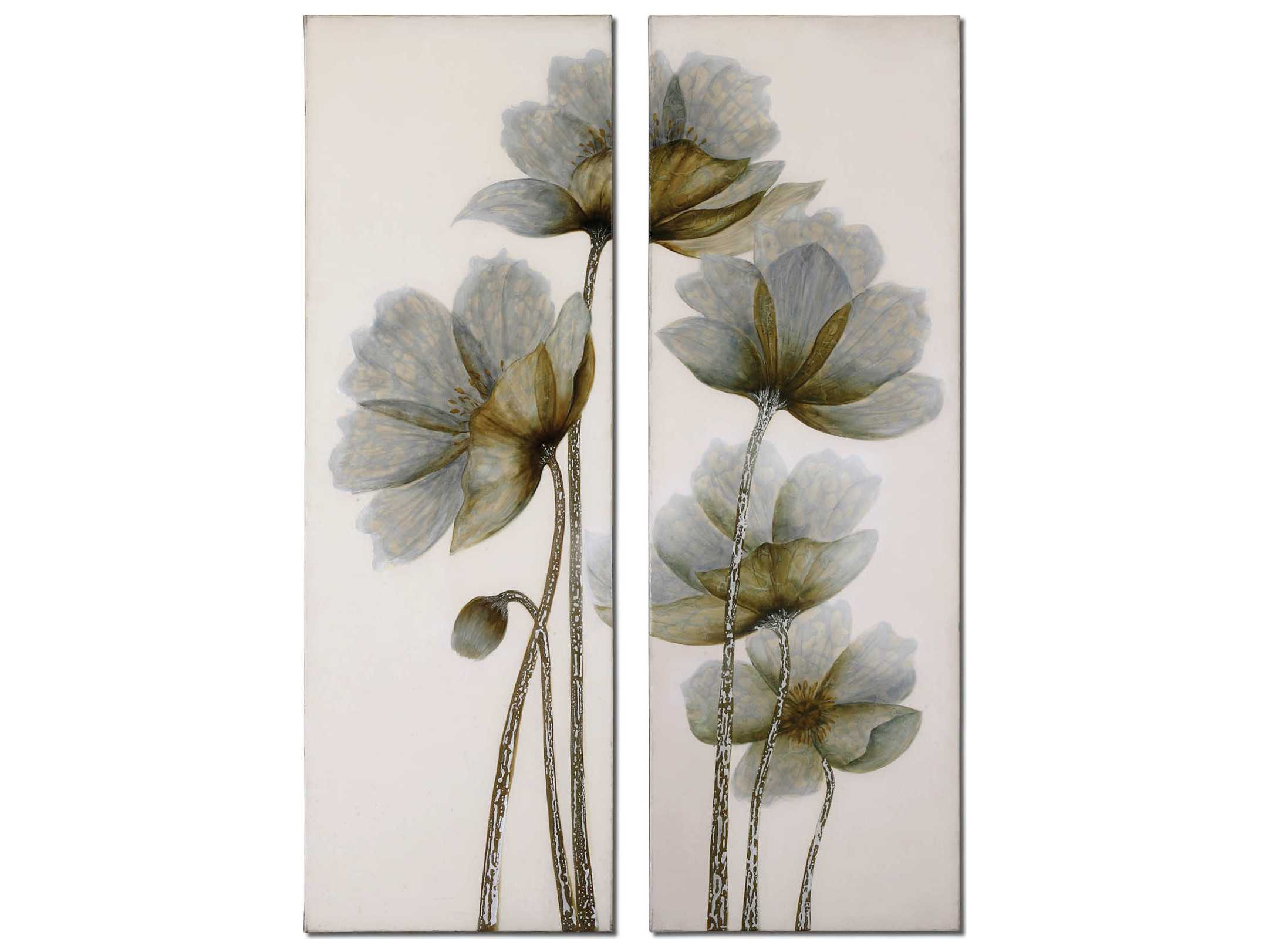 Uttermost Floral Glow Floral Wall Art 2 Piece Set Ut34201