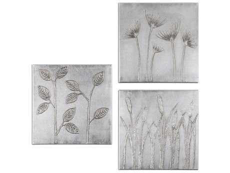 Uttermost Sterling Trio Canvas Wall Art (3 Piece Set)