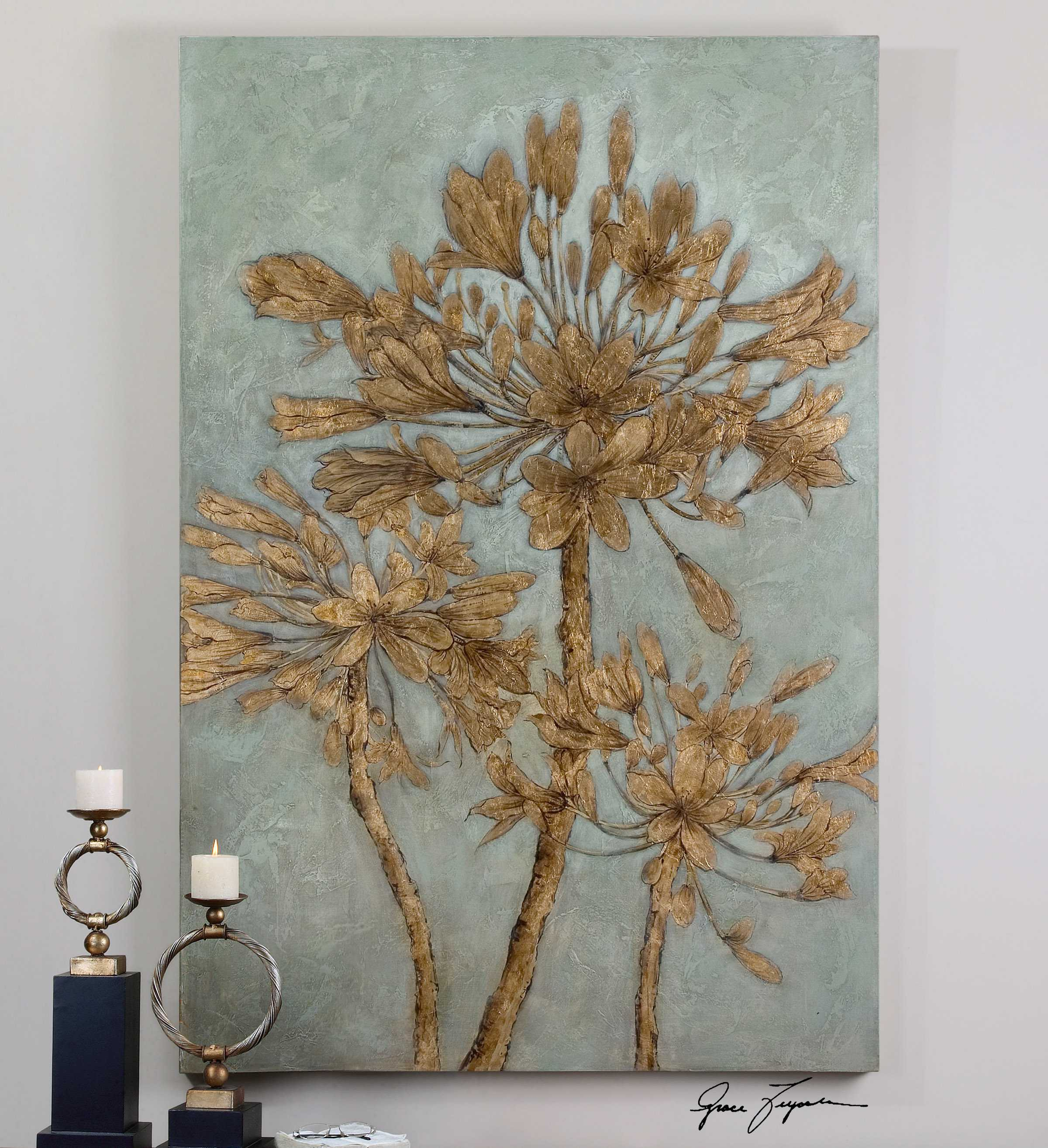 Uttermost Golden Leaves Wall Art Ut34275