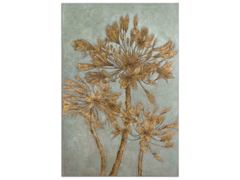 Uttermost Golden Leaves Wall Art Ut34275