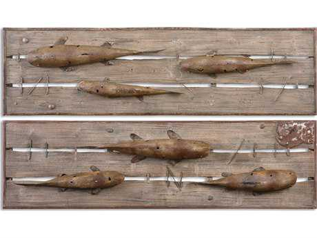 Uttermost On The Dock Wood Wall Art (Set of 2)