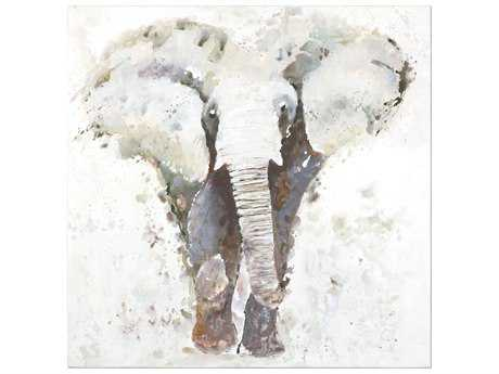 Uttermost Curiosity Hand Painted Elephant Wall Art