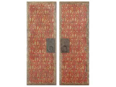 Uttermost Red Door Panels Wall Art (2 Piece Set)