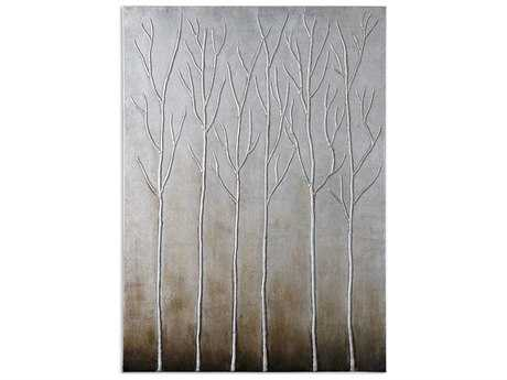 Uttermost Sterling Trees Hand Painted Wall Art