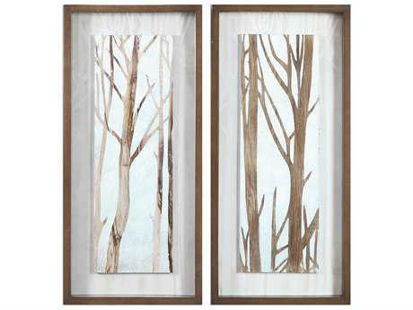 Uttermost Tree Focus Shadow Box Wall Art (Set of 2)