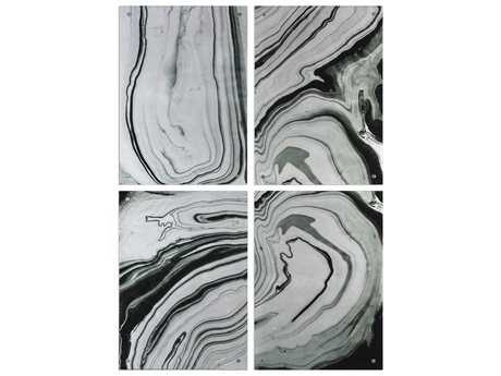 Uttermost Grace Feyock Echos Modern Abstract Art (Set of Four)