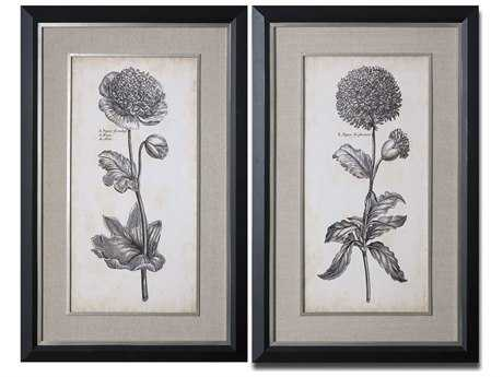 Uttermost Singular Beauty Floral Wall Art (2 Piece Set)