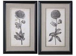 Uttermost Singular Beauty Floral Wall Art (2 Piece Set)