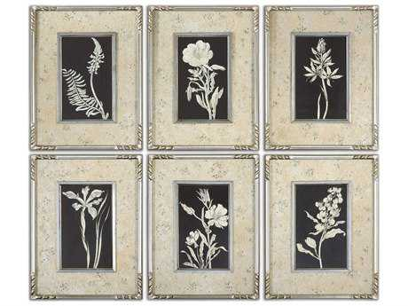 Uttermost Glowing Florals Framed Wall Art (6 Piece Set)
