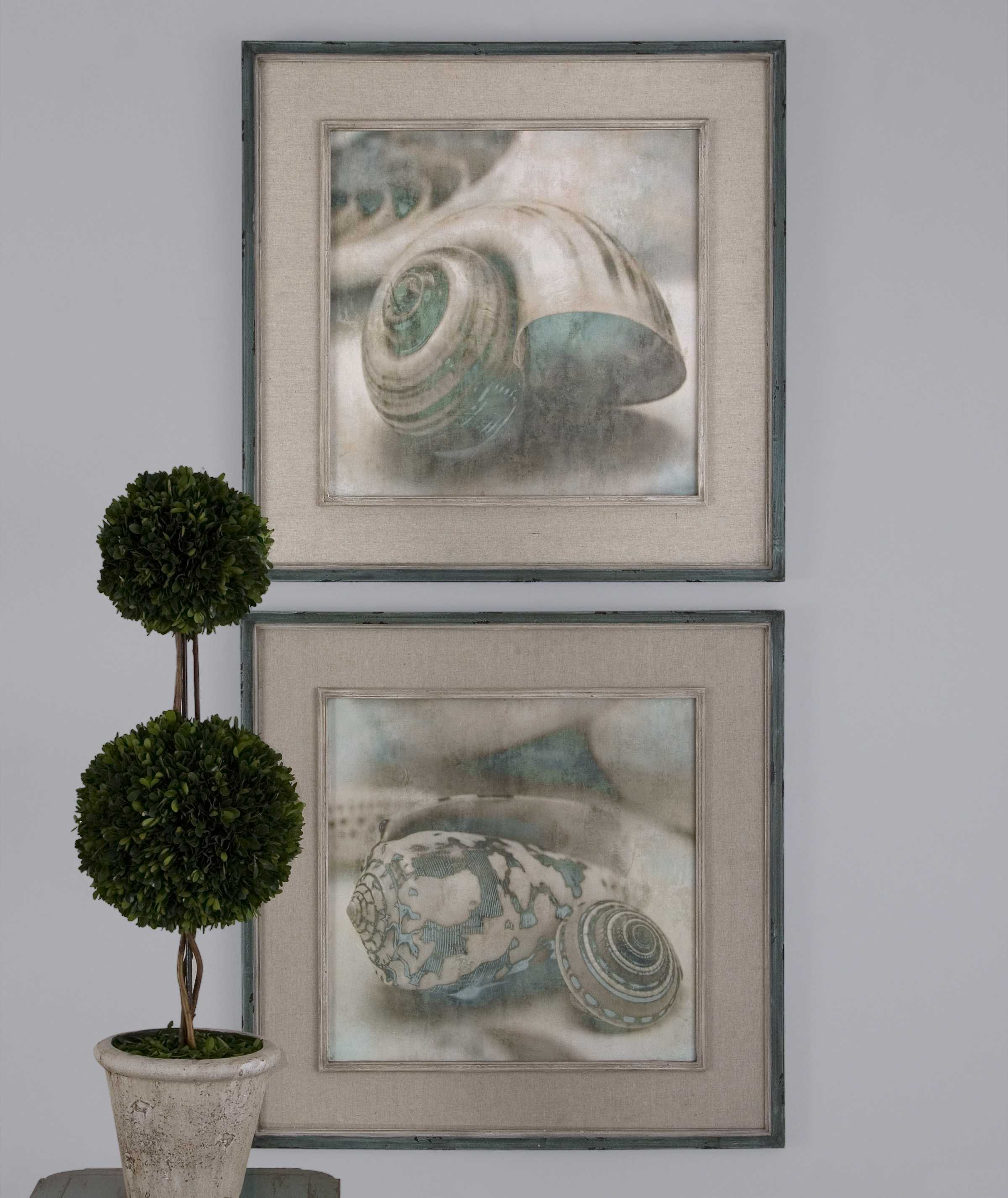 Uttermost Coastal Gems Framed Wall Art 2 Piece Set Ut51084