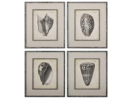 Uttermost Vintage Diderot Shells Wall Art (4 Piece Set)
