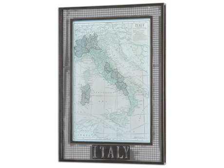 Uttermost Italy Map Framed Wall Art