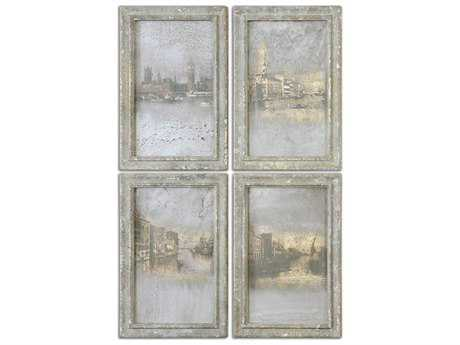 Uttermost Antique Venetian Views Wall Art (4 Piece Set)